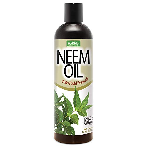 Harris Neem Oil, 100% Cold Pressed and Unrefined for Plants, Skin...