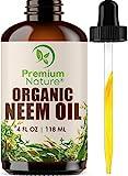 Organic Neem Oil For Skin - Neem Oil for Hair, 100% Pure Neem Oil...