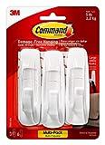 Command Large Utility Hook, White, 3-Hooks, 6-Strips (17003-3ES)