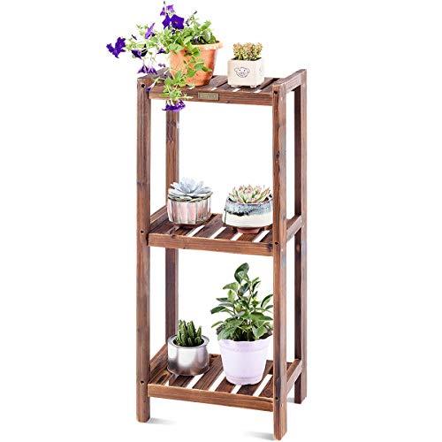 Giantex 3-Tier Flower Rack Plant Stand Wood Bookshelf...