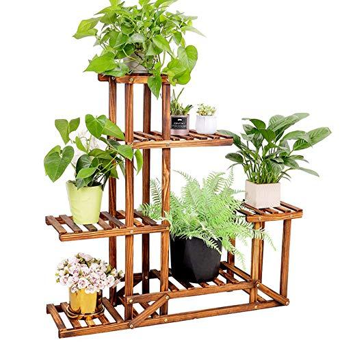 unho Plants Stand Wooden Shelf Tiered Flower Rack Holder Planter...