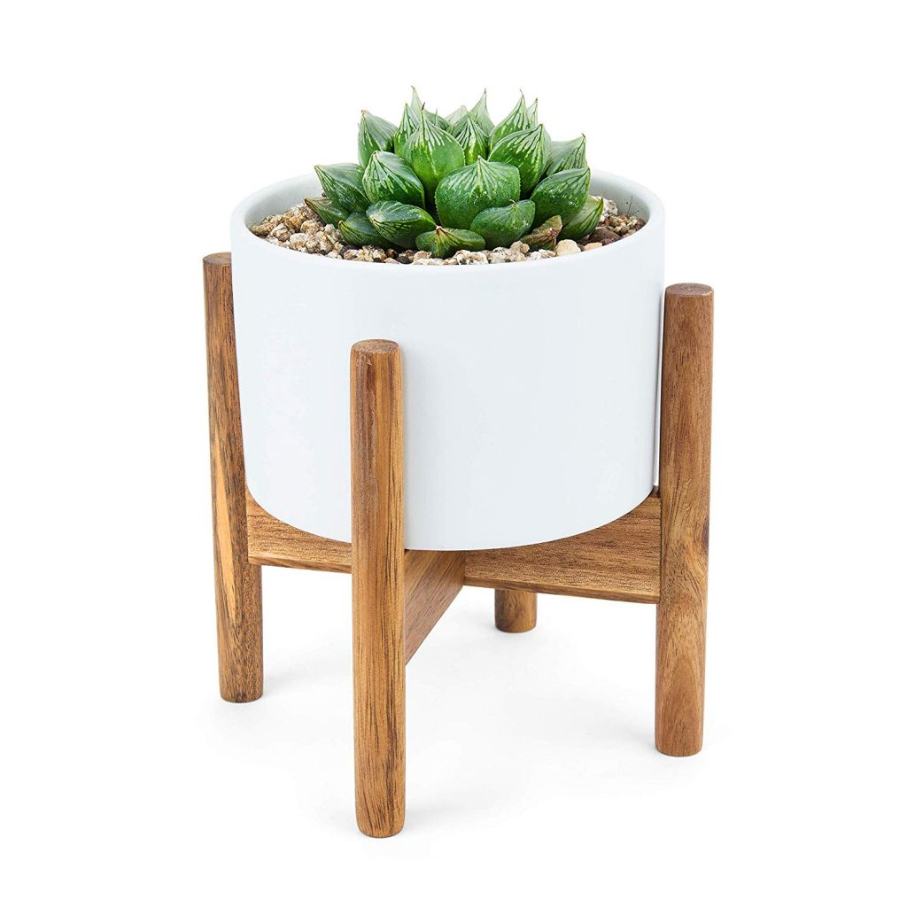 Mid Century Modern Succulent Minimal Planter