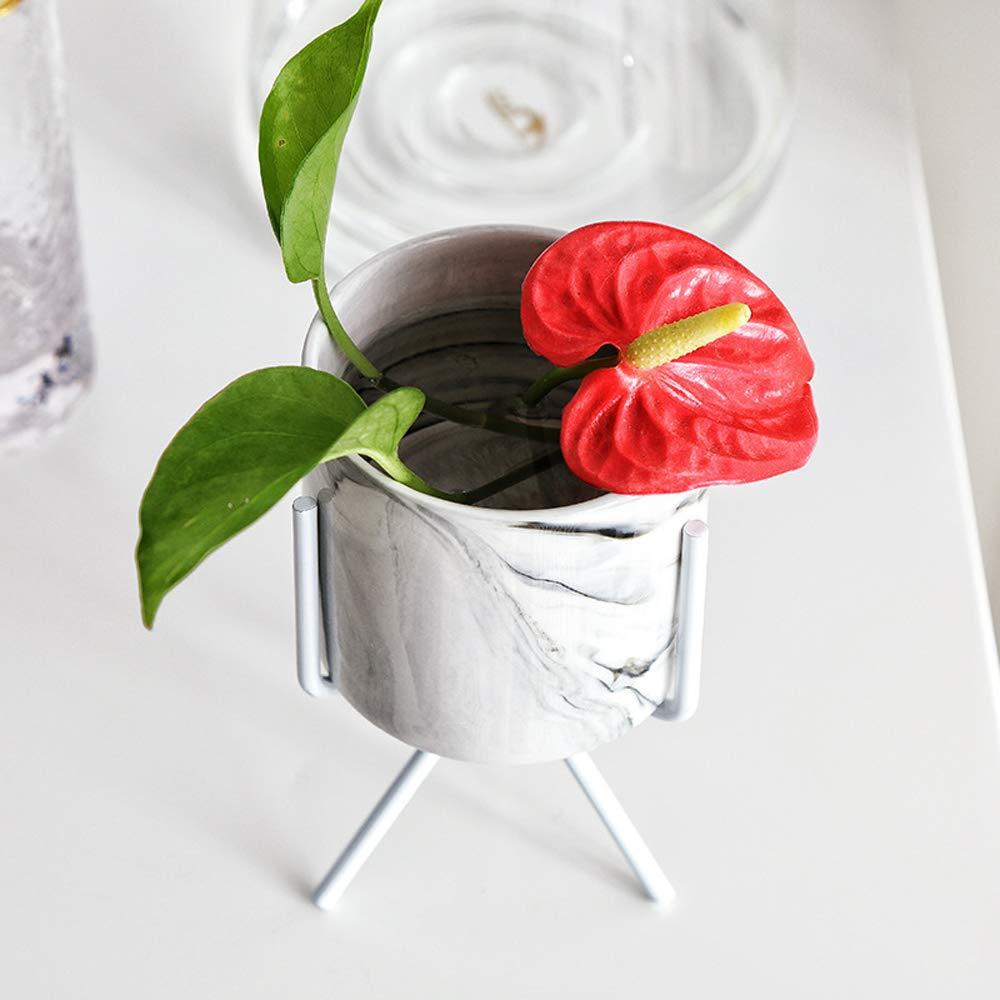 Ceramic faux marble succulent pot