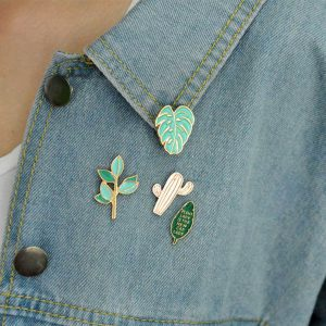 Cactus pin set 4 pieces