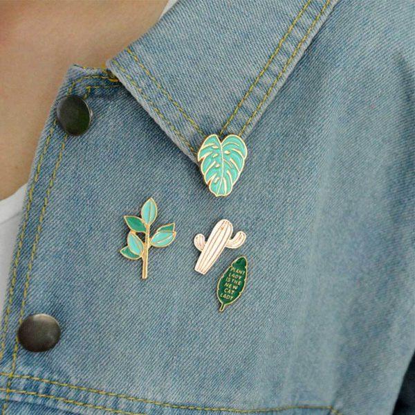Cactus pin set 4 pieces