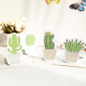 Succulent sticky notes 4 pack